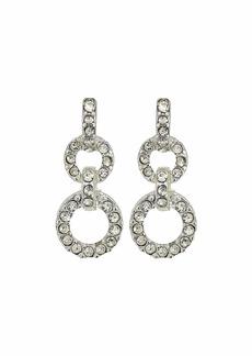 Ralph Lauren Pave Post Double Drop Earrings