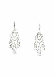 Ralph Lauren Pave Teardrop Chandelier Earrings