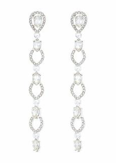 Ralph Lauren Pave Teardrop Linear Earrings