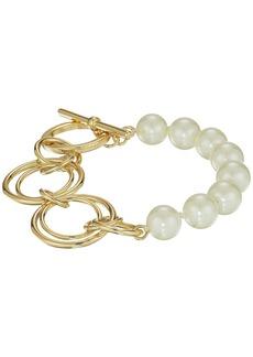 Ralph Lauren Pearl Update Metal Link Toggle Bracelet