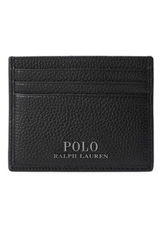Ralph Lauren Pebbled Leather Card Case