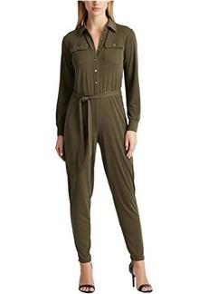 Ralph Lauren Petite Buttoned Jersey Jumpsuit