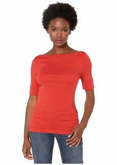 Ralph Lauren Petite Cotton Boat Neck T-Shirt