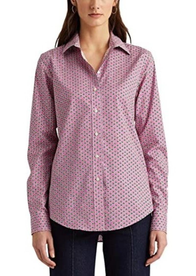Ralph Lauren Petite Easy Care Paisley Cotton Shirt