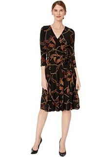 Ralph Lauren Petite Equestrian-Print Jersey Dress