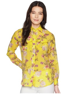 Ralph Lauren Petite Floral Button Down Shirt