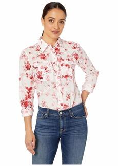 Ralph Lauren Petite Floral Cotton Shirt