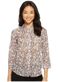 Ralph Lauren Petite Floral Cotton-Silk Shirt