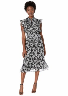 Ralph Lauren Petite Floral Georgette Dress