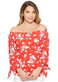 Ralph Lauren Petite Floral Jersey Off the Shoulder Top
