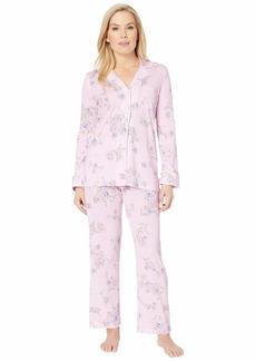 Ralph Lauren Petite Knit Notch Collar Pajama Set