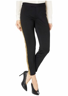 Ralph Lauren Petite Metallic-Trim Ponte Pants