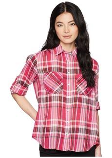 Ralph Lauren Petite Plaid Cotton Long Sleeve Shirt