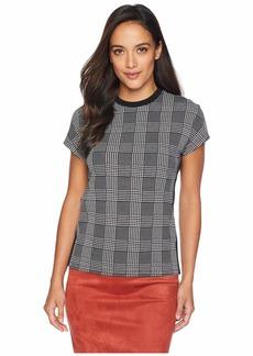 Ralph Lauren Petite Plaid Jersey T-Shirt