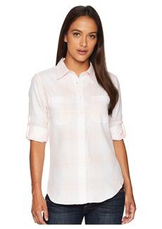 Ralph Lauren Petite Plaid Rolled-Cuff Cotton Shirt