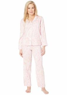 Ralph Lauren Petite Pointed Notch Collar Pajama Set