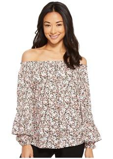 Ralph Lauren Petite Ruffled-Cuff Floral Jersey Top