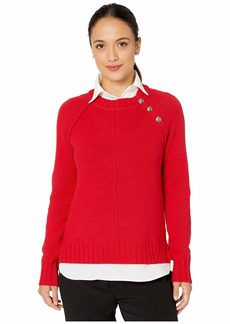 Ralph Lauren Petite Shirt-Underlayer Sweater