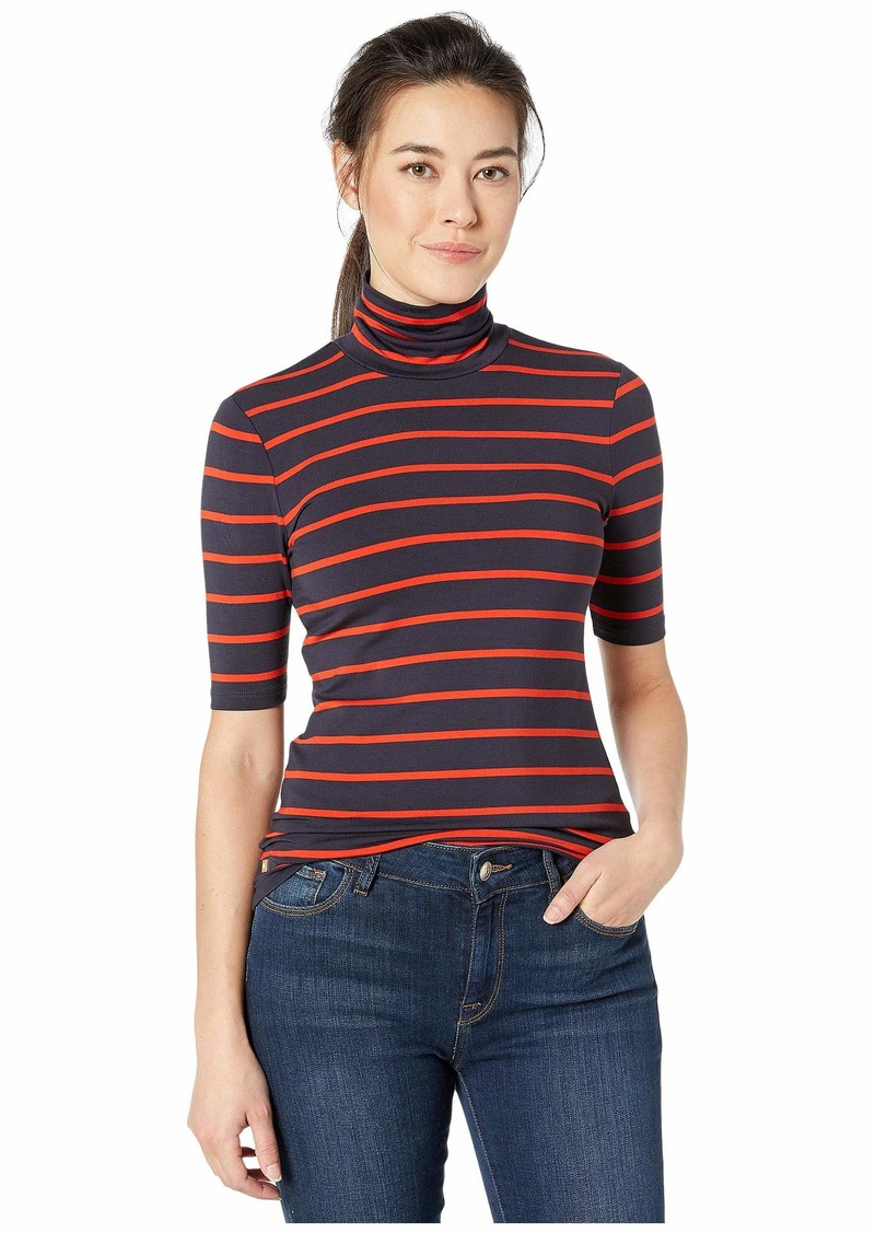 Ralph Lauren Petite Striped Stretch Turtleneck Top