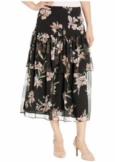 Ralph Lauren Petite Tiered Georgette Peasant Skirt