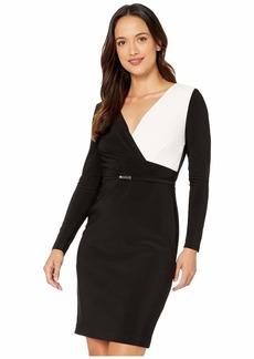 Ralph Lauren Petite Two-Tone Jersey Dress