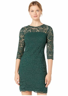 Ralph Lauren Piazza Floral Lace Paymer 3/4 Sleeve Day Dress