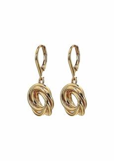 Ralph Lauren Pierced Knot Drop Earrings