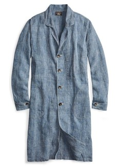 Ralph Lauren Pincheck Linen Shop Coat