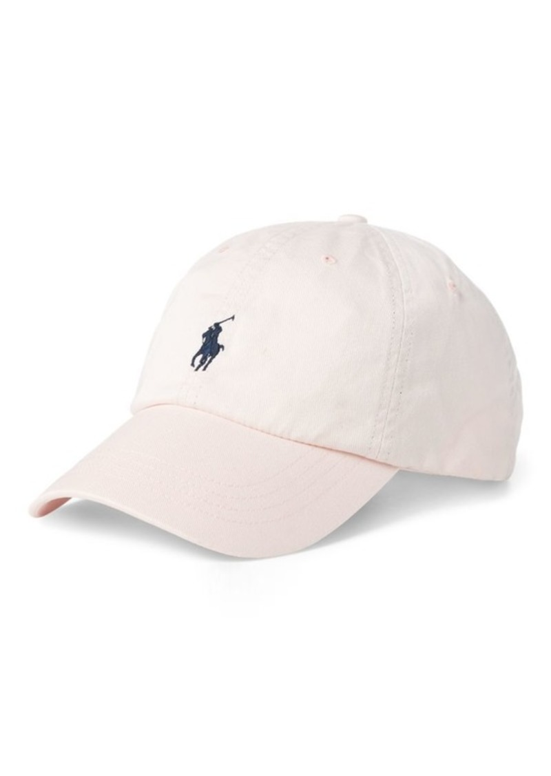 Ralph Lauren Pink Pony Cotton Ball Cap
