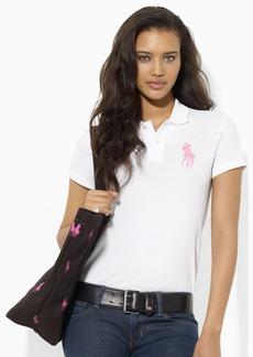Ralph Lauren Pink Pony Cotton Polo Shirt