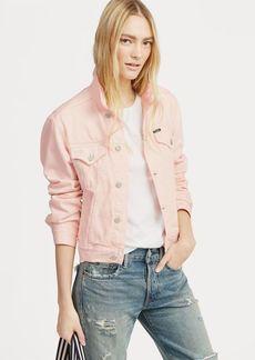 Ralph Lauren Pink Pony Denim Trucker Jacket