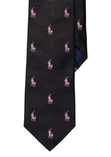 Ralph Lauren Pink Pony Silk Repp Tie