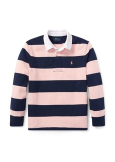 Ralph Lauren Pink Pony Striped Cotton Rugby