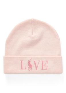 Ralph Lauren Pink Pony Wool-Blend Hat