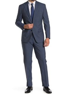Ralph Lauren Pinstripe Blue Wool Blend 2-Piece Suit
