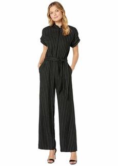 Ralph Lauren Pinstripe Linen-Blend Jumpsuit
