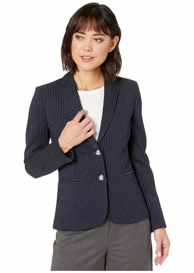Ralph Lauren Pinstripe Ponte Jacket
