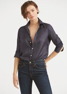 Ralph Lauren Pinstripe Silk Button-Down