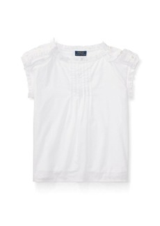 Ralph Lauren Pintucked Cotton Batiste Top
