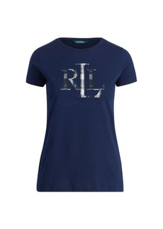 Ralph Lauren Plaid Appliqué Logo T-Shirt