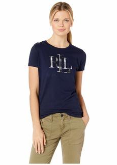 Ralph Lauren Plaid Appliqué Logo T-Shirt