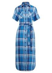 Ralph Lauren Plaid Belted Shirtdress
