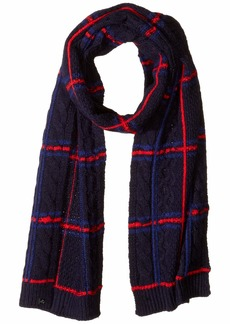 Ralph Lauren Plaid Cable Scarf