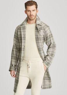Ralph Lauren Plaid Cashmere Balmacaan Coat