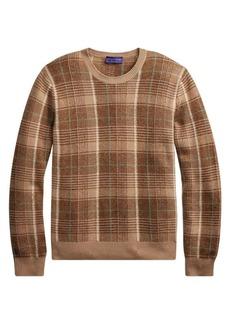 Ralph Lauren Plaid Cashmere Crew Sweater