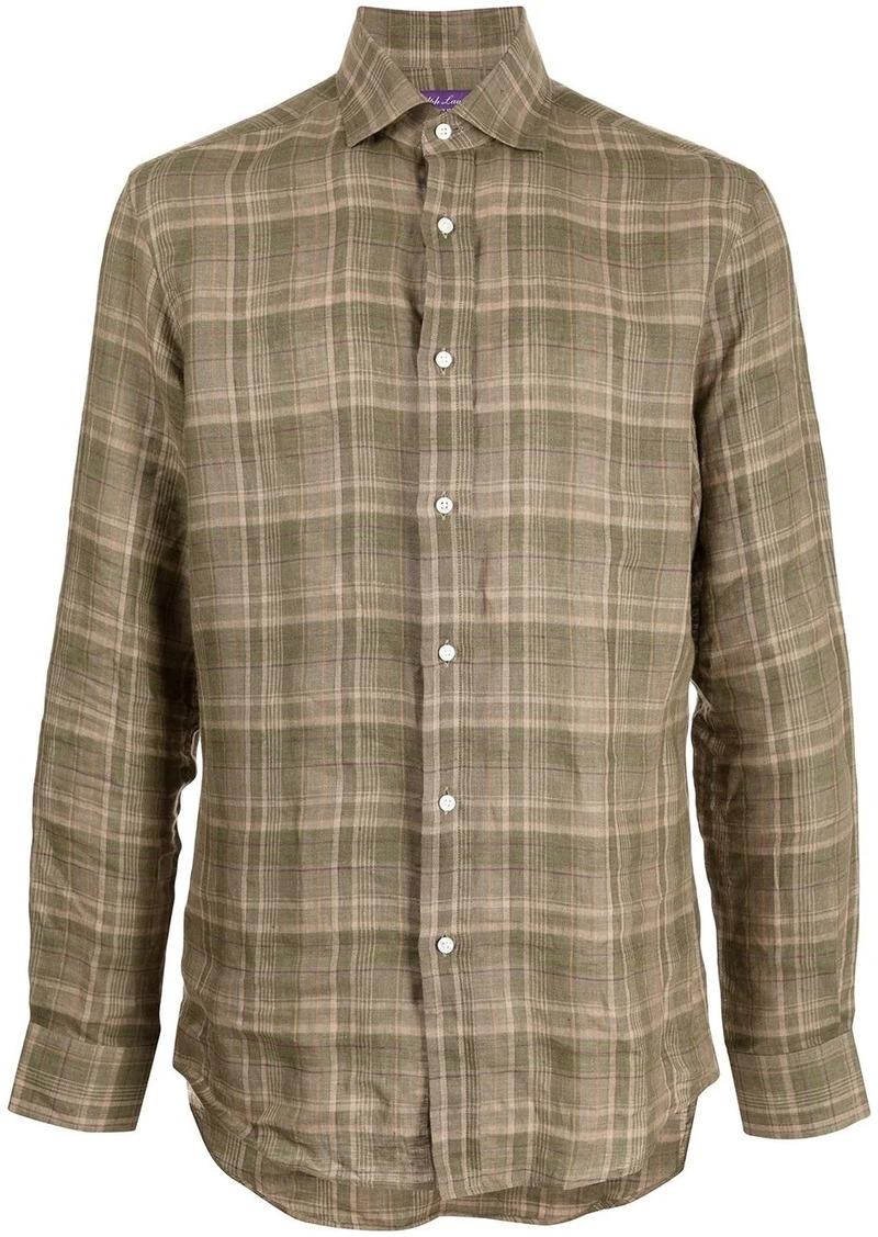 Ralph Lauren plaid-check linen shirt