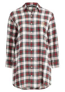 Ralph Lauren Plaid Cotton Sleep Shirt