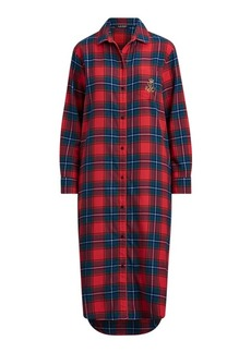 Ralph Lauren Plaid Cotton Sleep Shirt