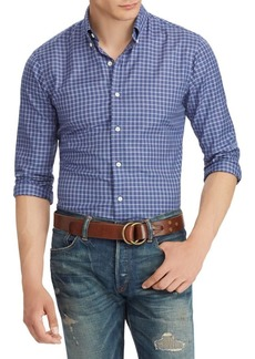 Ralph Lauren Plaid Cotton Twill Long Sleeve Shirt