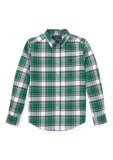Ralph Lauren Plaid Cotton Twill Sport Shirt